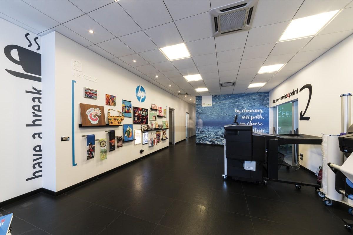 Inaugurazione Fenix Print Lab galleria applicazioni HP