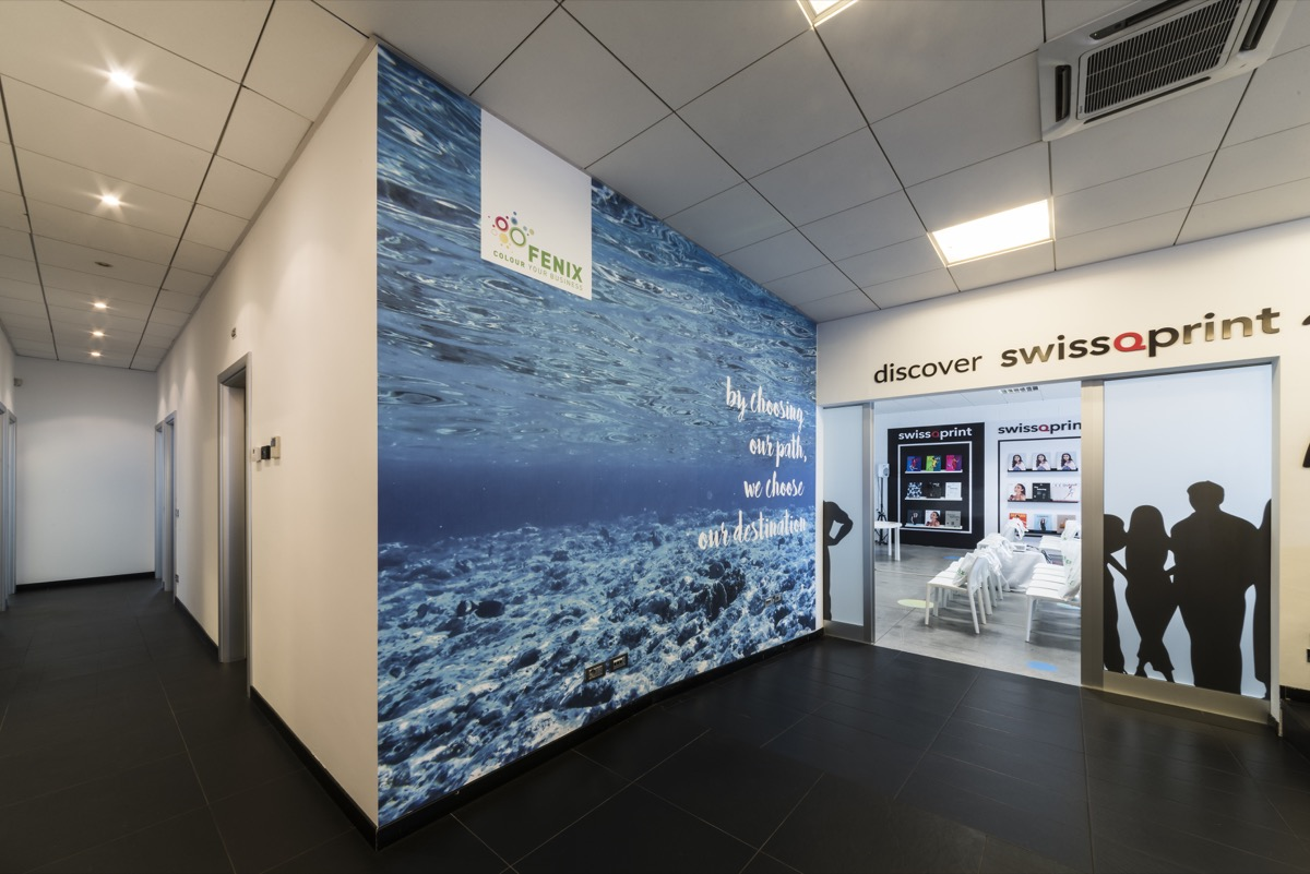 Inaugurazione Fenix Print Lab wall HP