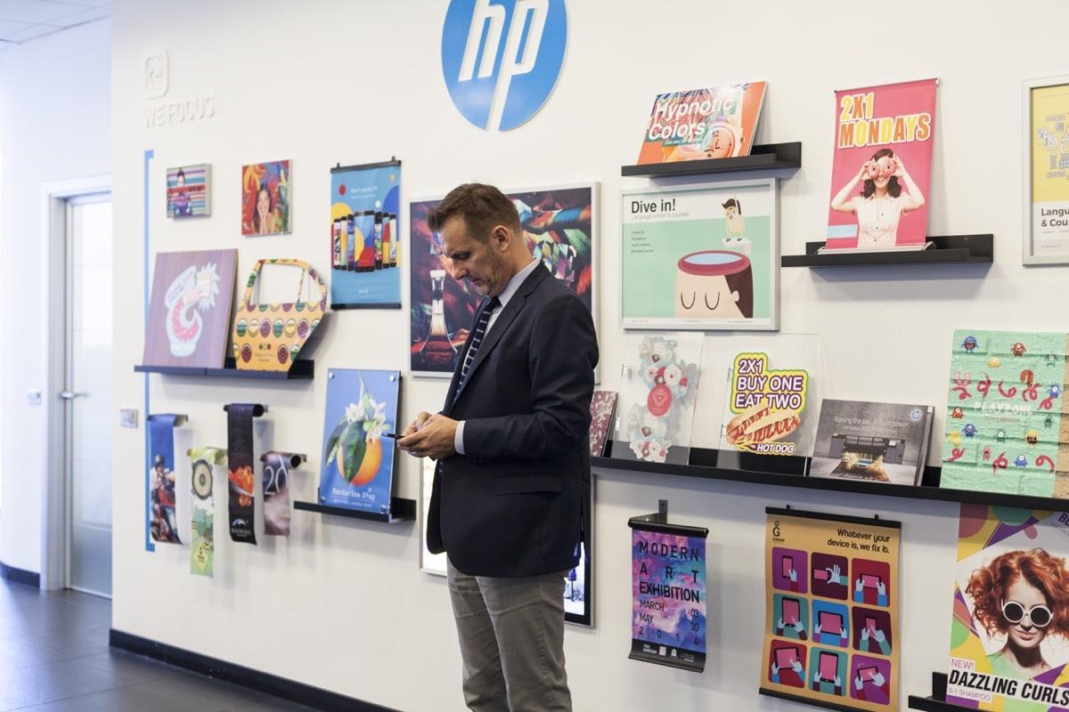 Inaugurazione Fenix Print Lab applicazioni HP Latex