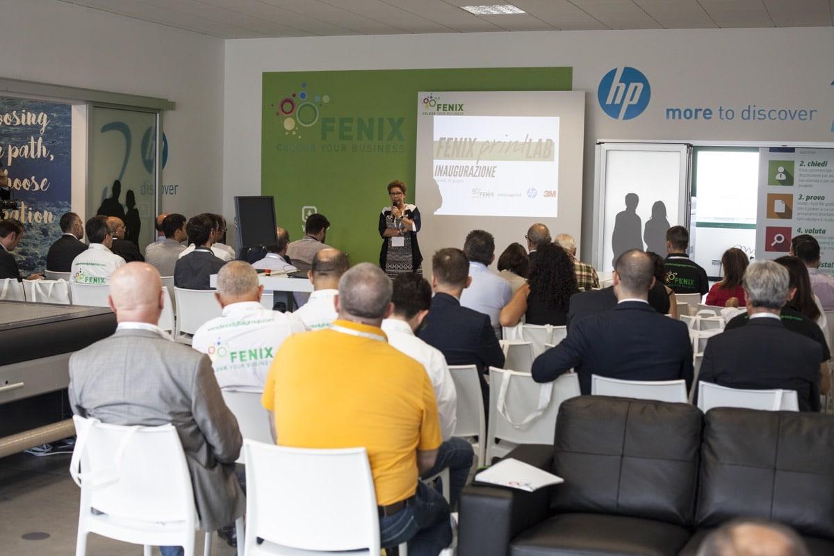 Inaugurazione Fenix Print Lab platea