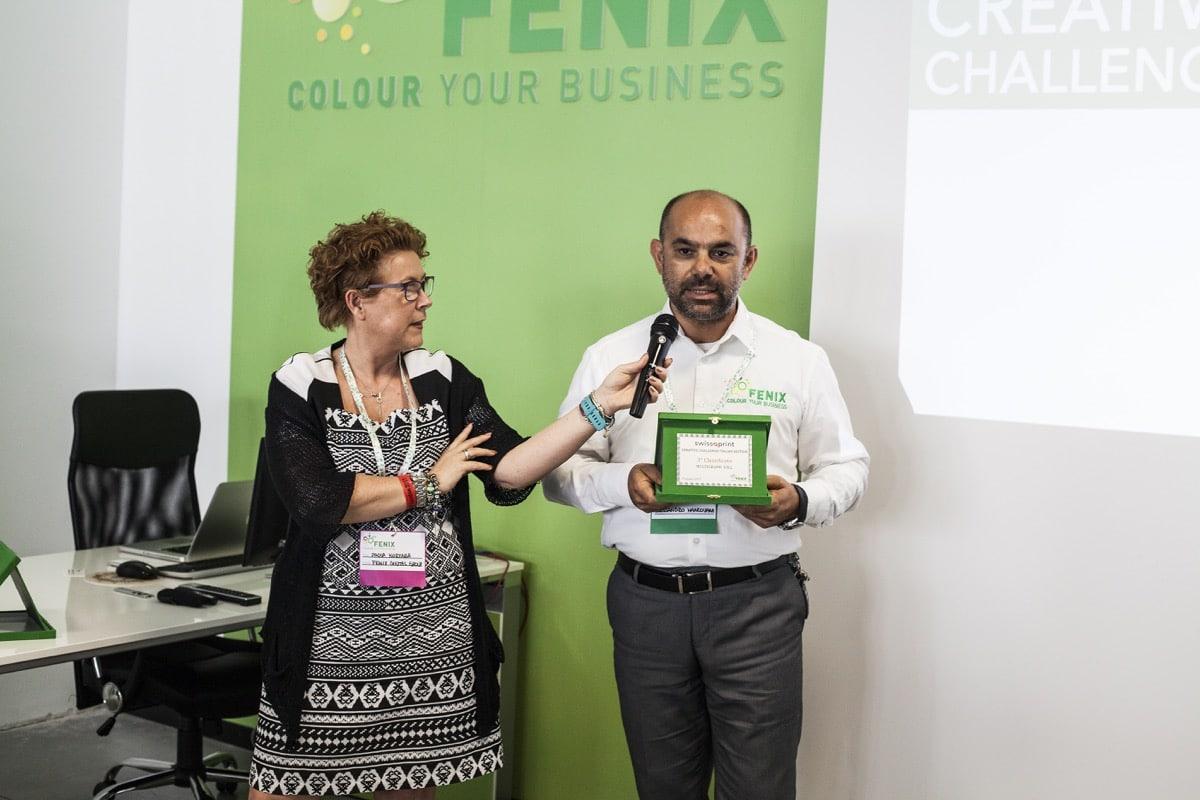 Inaugurazione Fenix Print Lab premiazione swissQprint Multigraph