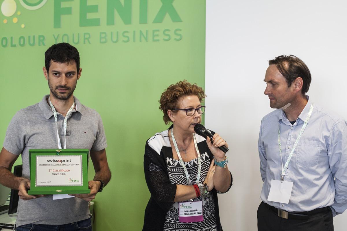 Inaugurazione Fenix Print Lab premiazione swissQprint Move