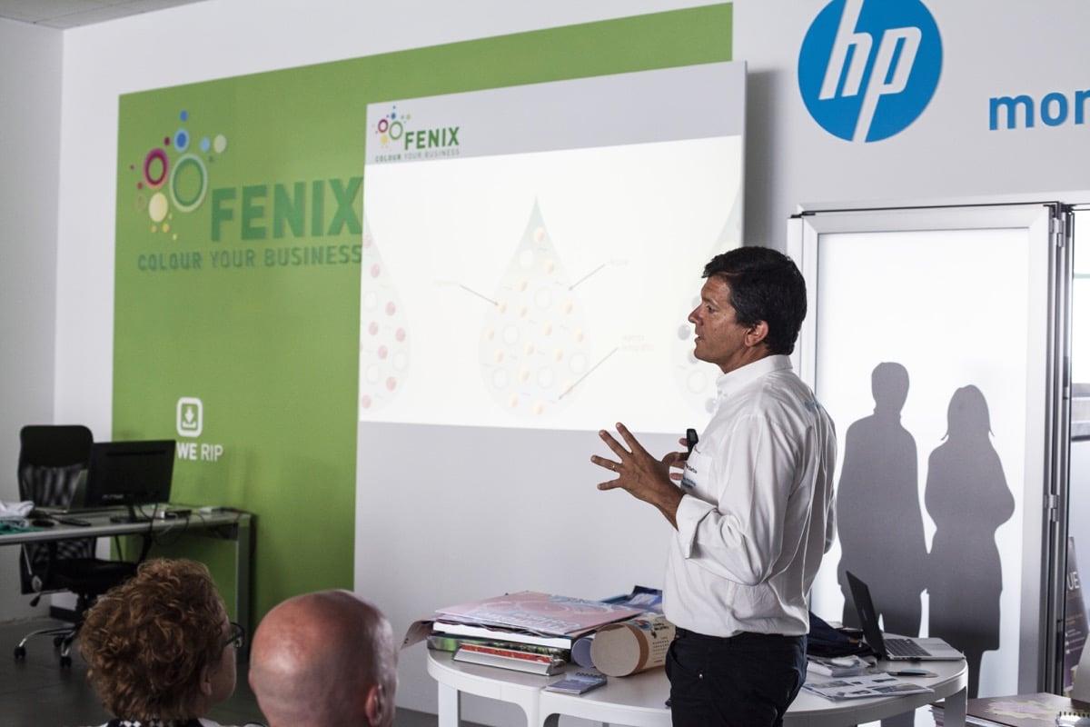 Inaugurazione Fenix Print Lab Roman Barba HP