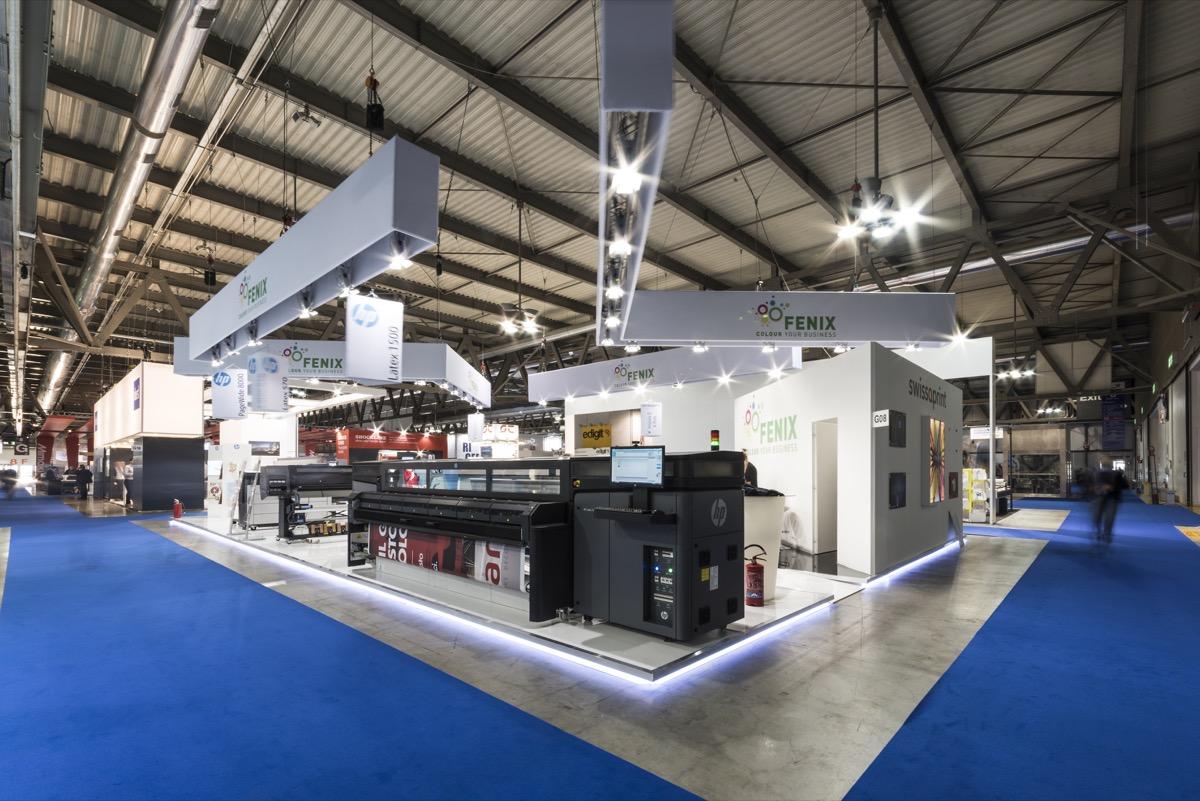 Lo stand Fenix DG a Viscom Italia: la HP Latex 1500