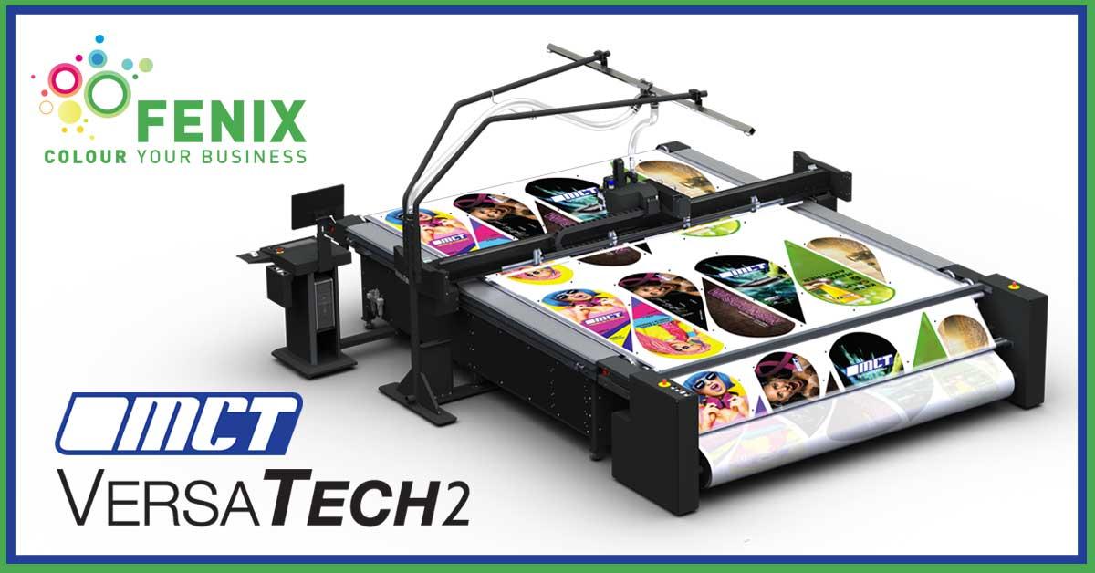 MCT Digital VersaTech2 con Auto Roll Off per il taglio di tessuti in continuo