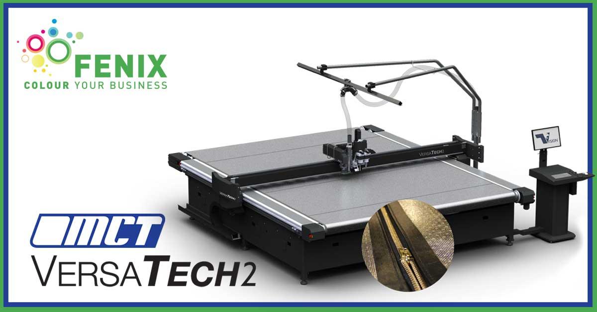 MCT Digital VersaTech2 con ZipperBelt e taglio laser orizzontale da 100W