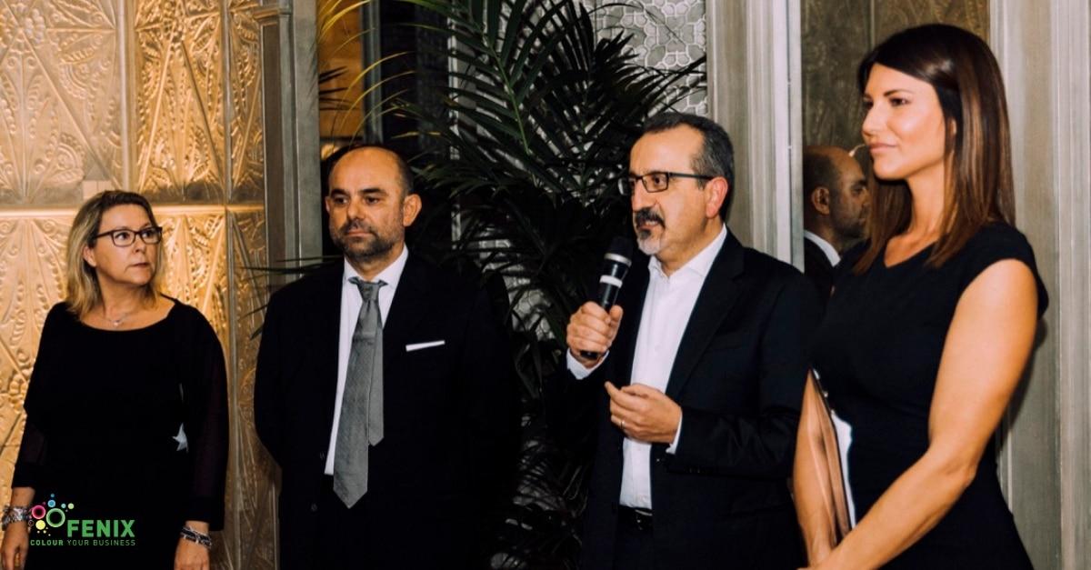 Paola Mortara, Alessandro Mantovani, Federico Musaio e Barbara Pedrotti al Fenix Gala in occasione di Viscom Italia 2018