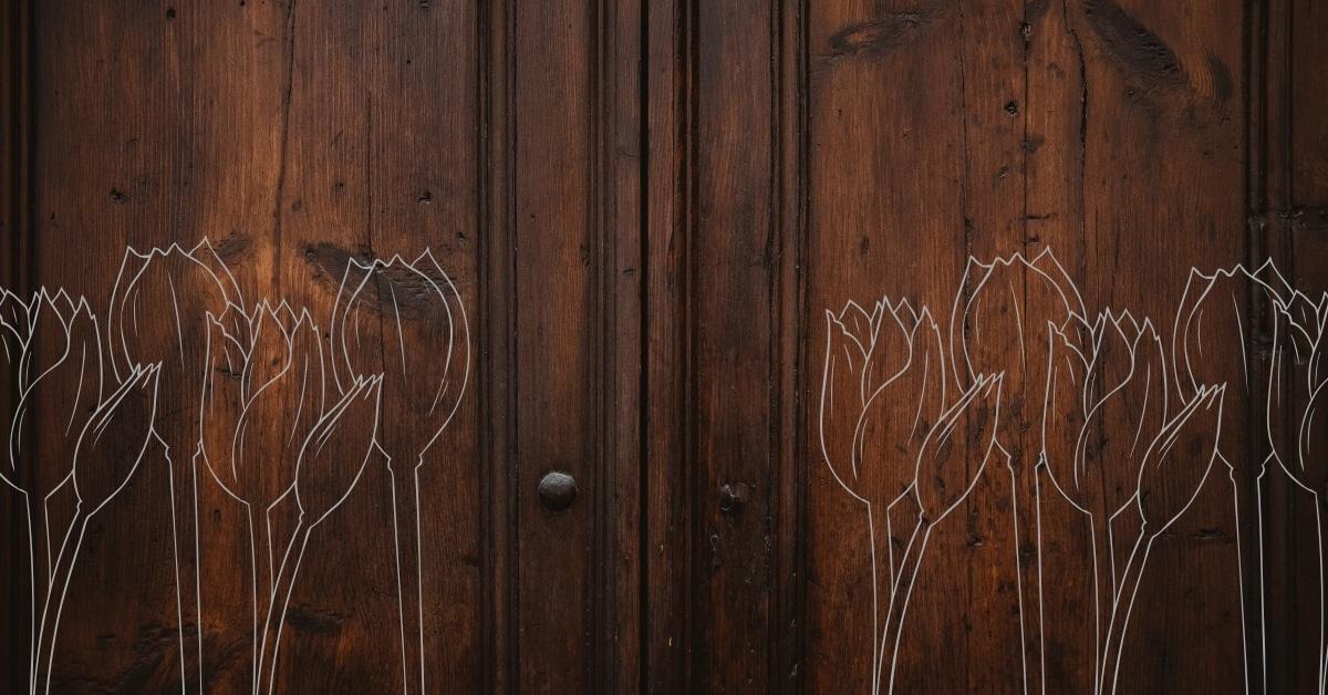 Assi Di Legno Decorate : Set matterelli tagliapasta in legno con base appendibile da muro