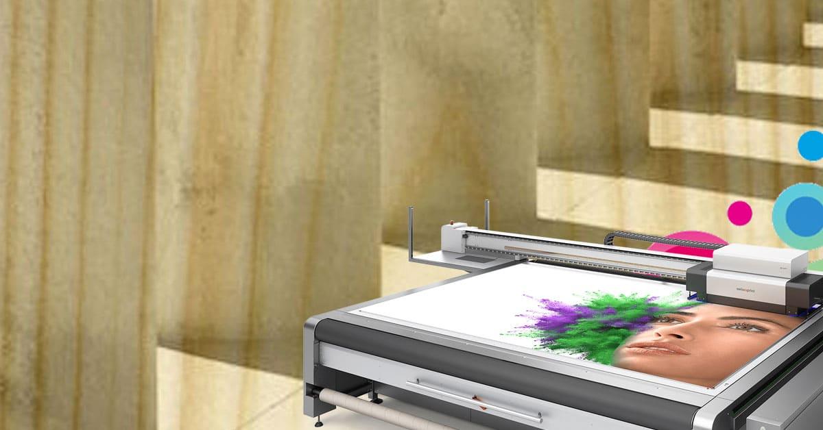 Stampa digitale UV LED su legno multistrato con swissQprint