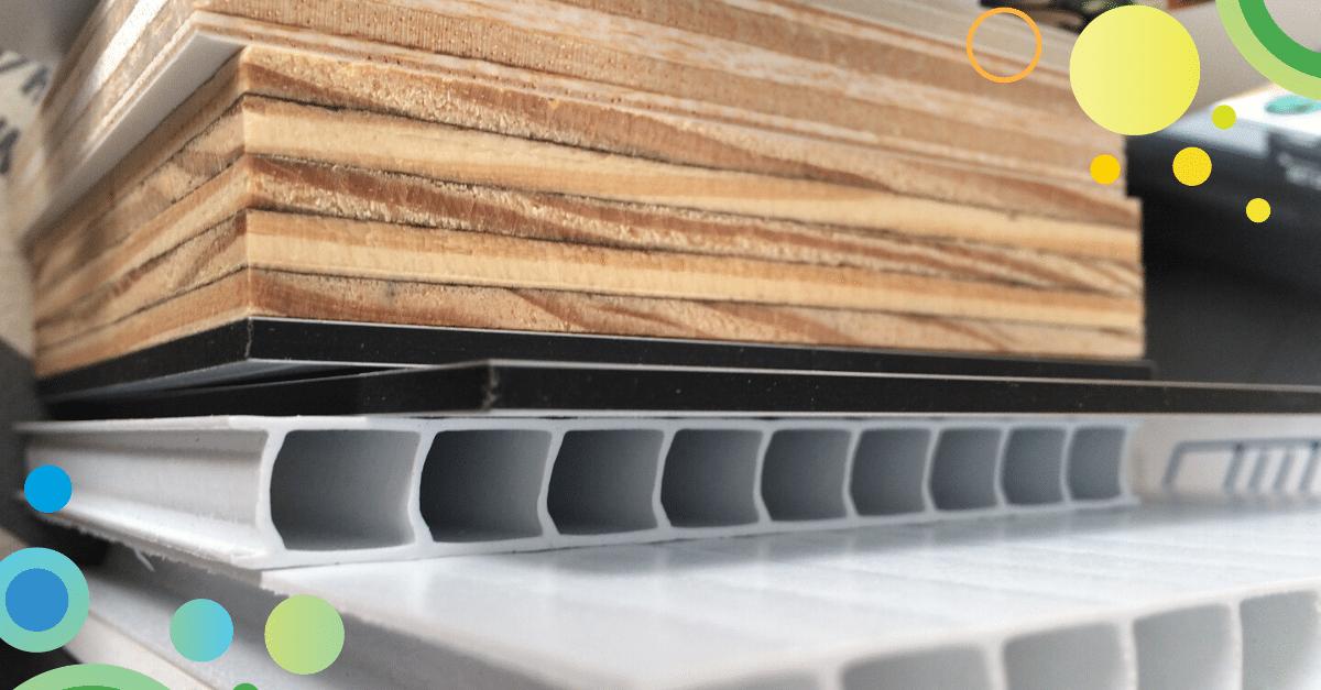 Materiali legno mdf multistrato cannettato plexiglas tagliati con plotter digitale
